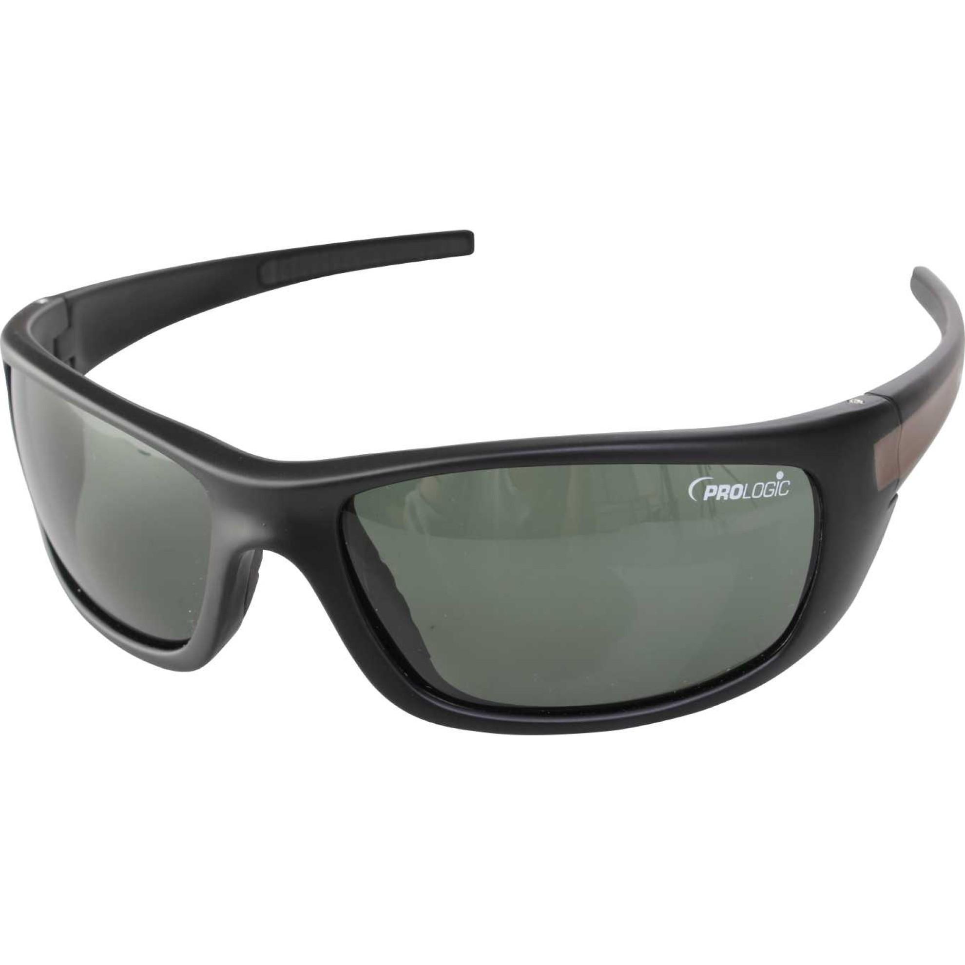 997095201d Prologic Big Gun Black Sunglasses (Gunsmoke Lenses)