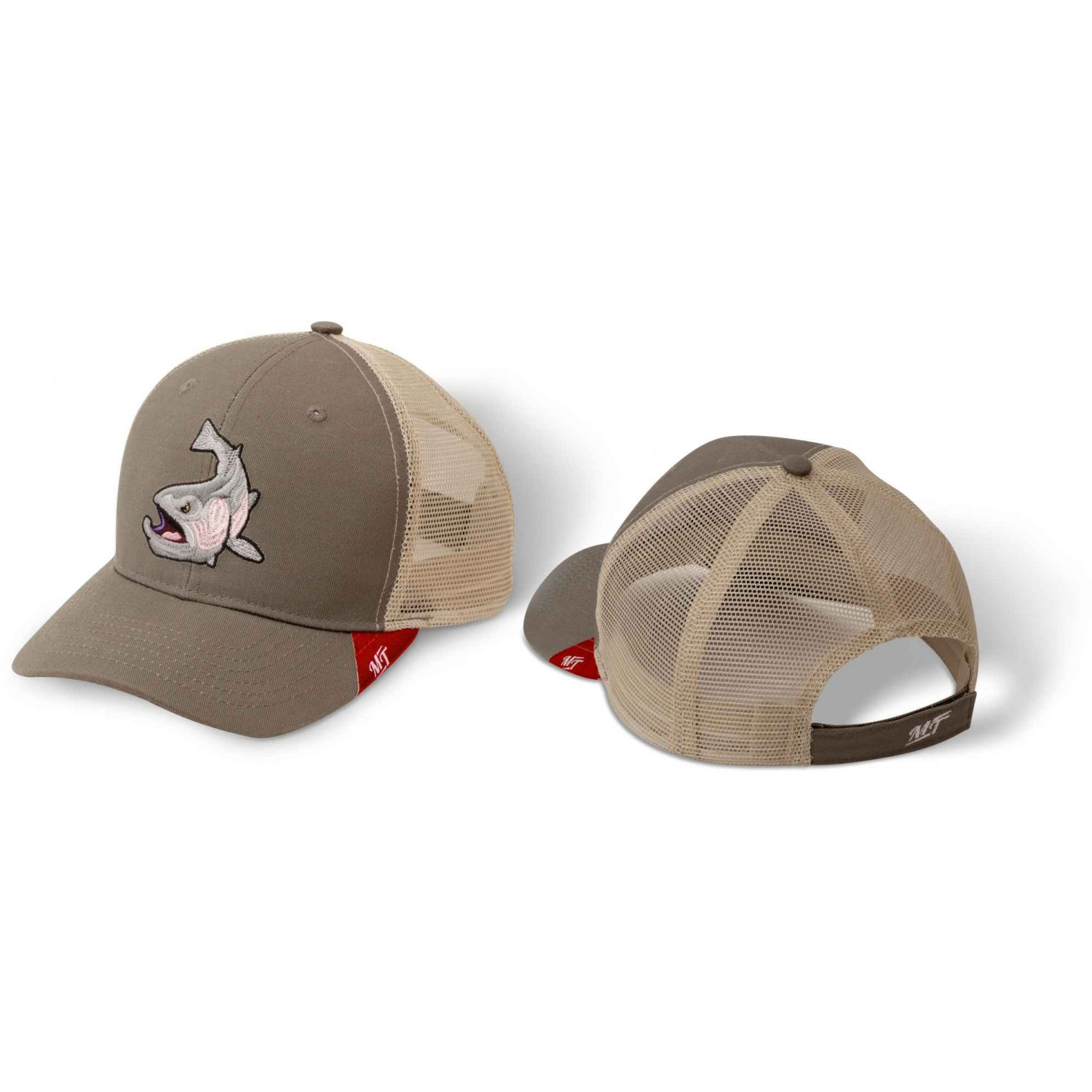 Quantum Magic Trout Trucker Cap stretch grau/braun