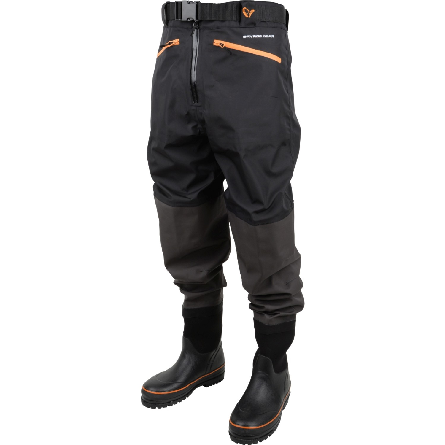 SG Breathable Waist Wader Boot Foot Cleated Black