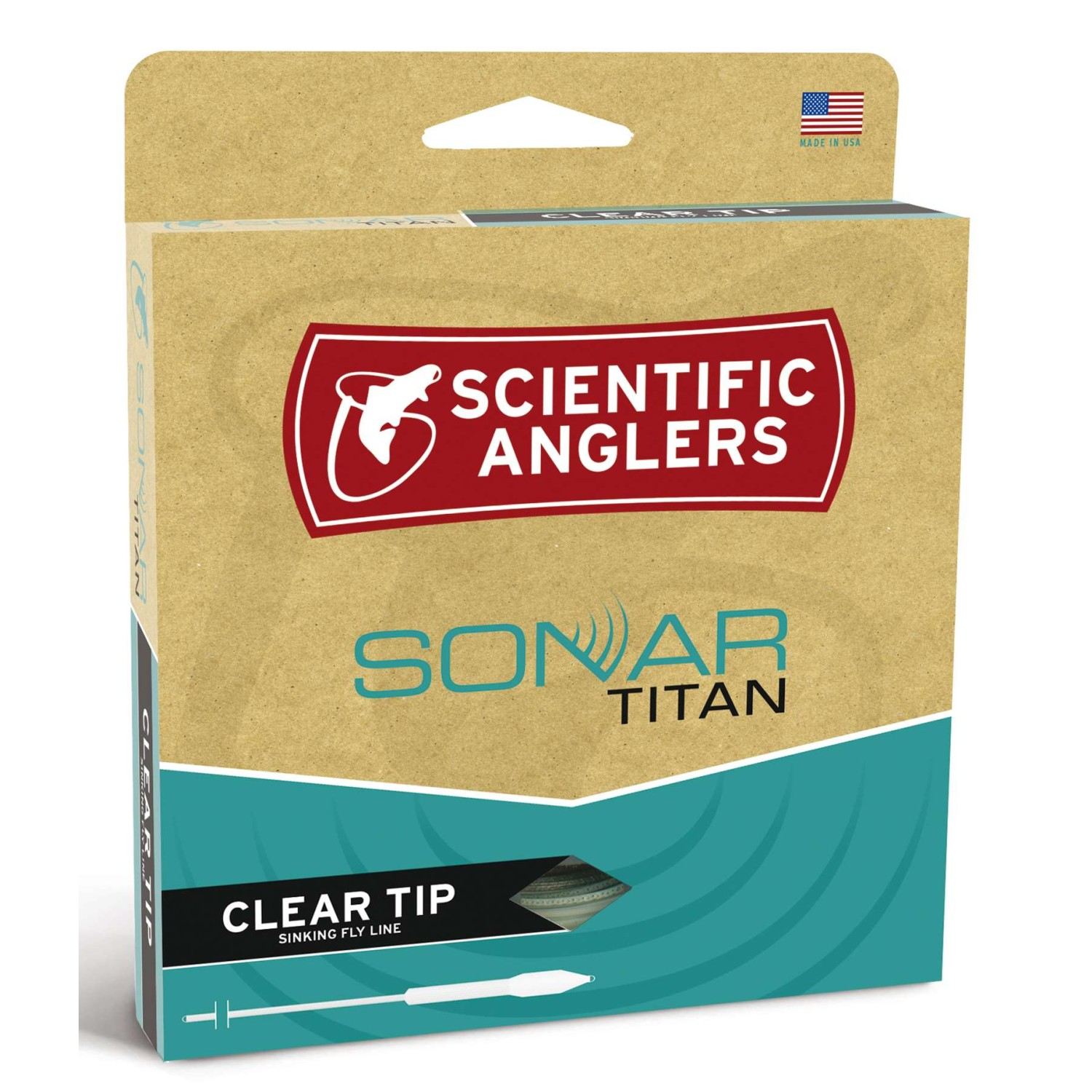 Scientific Anglers - Sonar Text. Titan Clear Tip Grass/Sky B