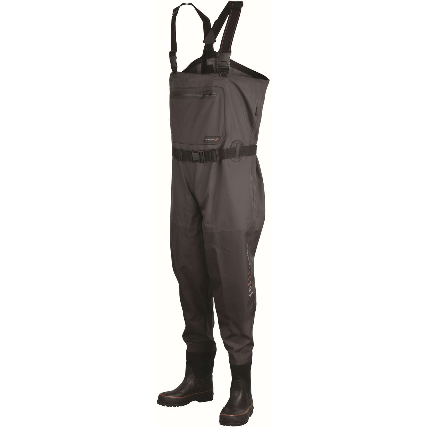 Scierra X 16000 Chest Wader Boot Foot Cleated Grey