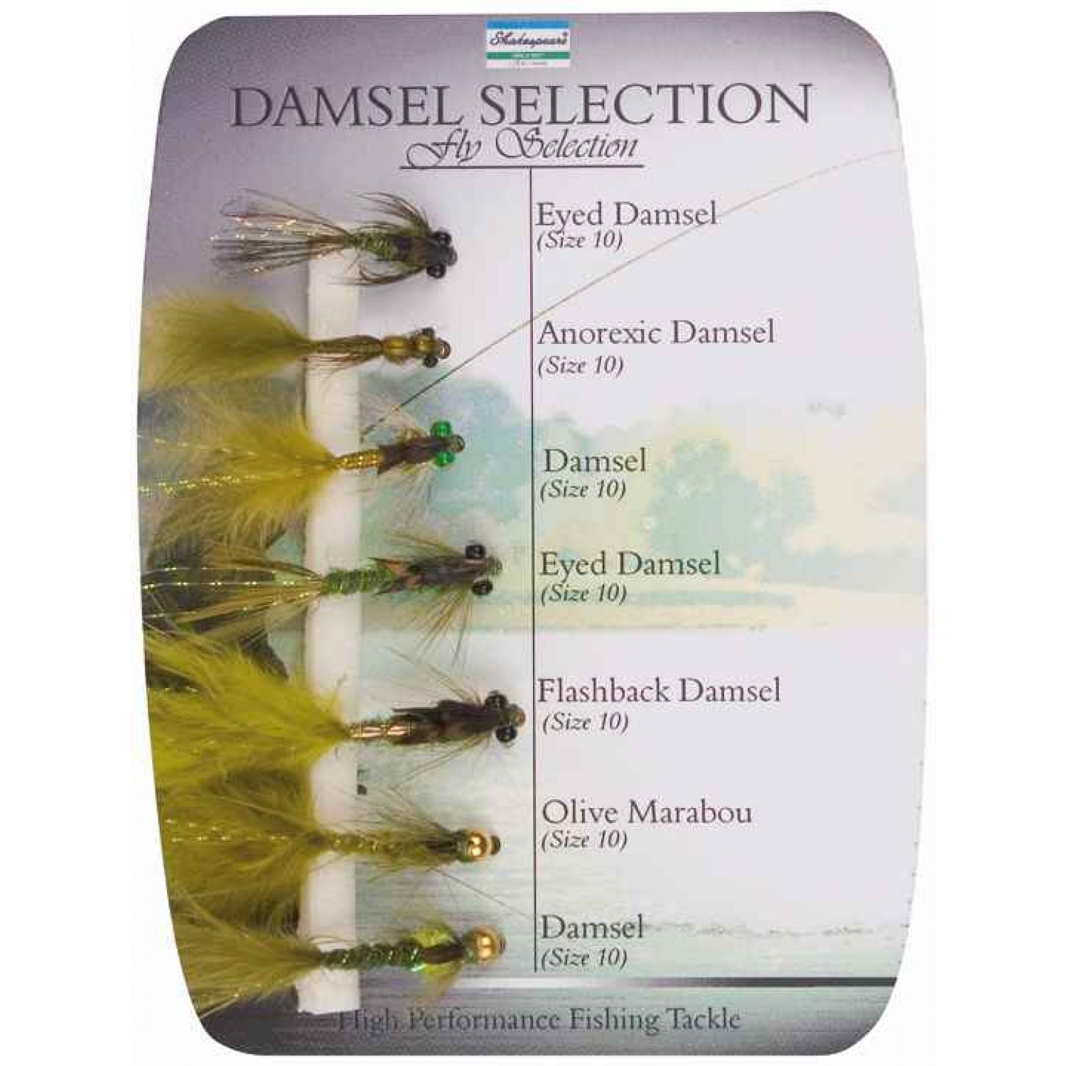 Shakespeare Fly Selection No4 Damsel Selection