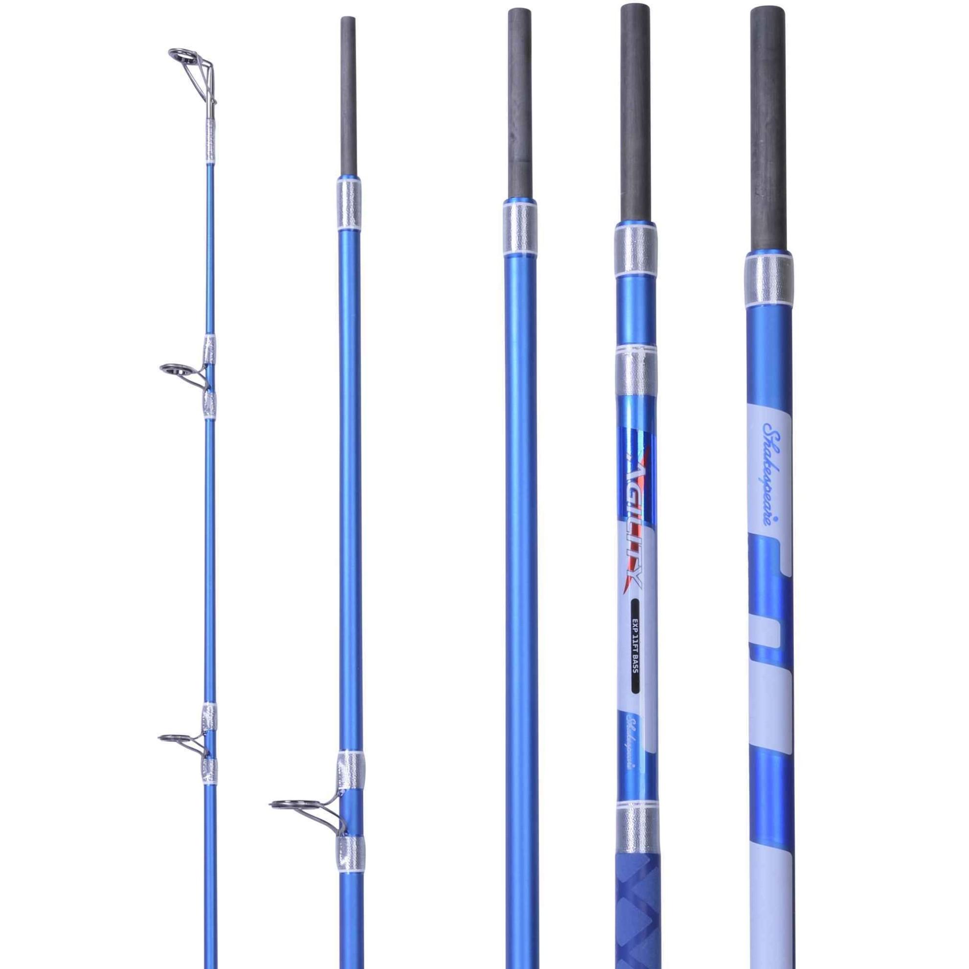 1402834 5 PC Shakespeare NEW Agility 2 EXP TRAVEL Bass Rod 11ft