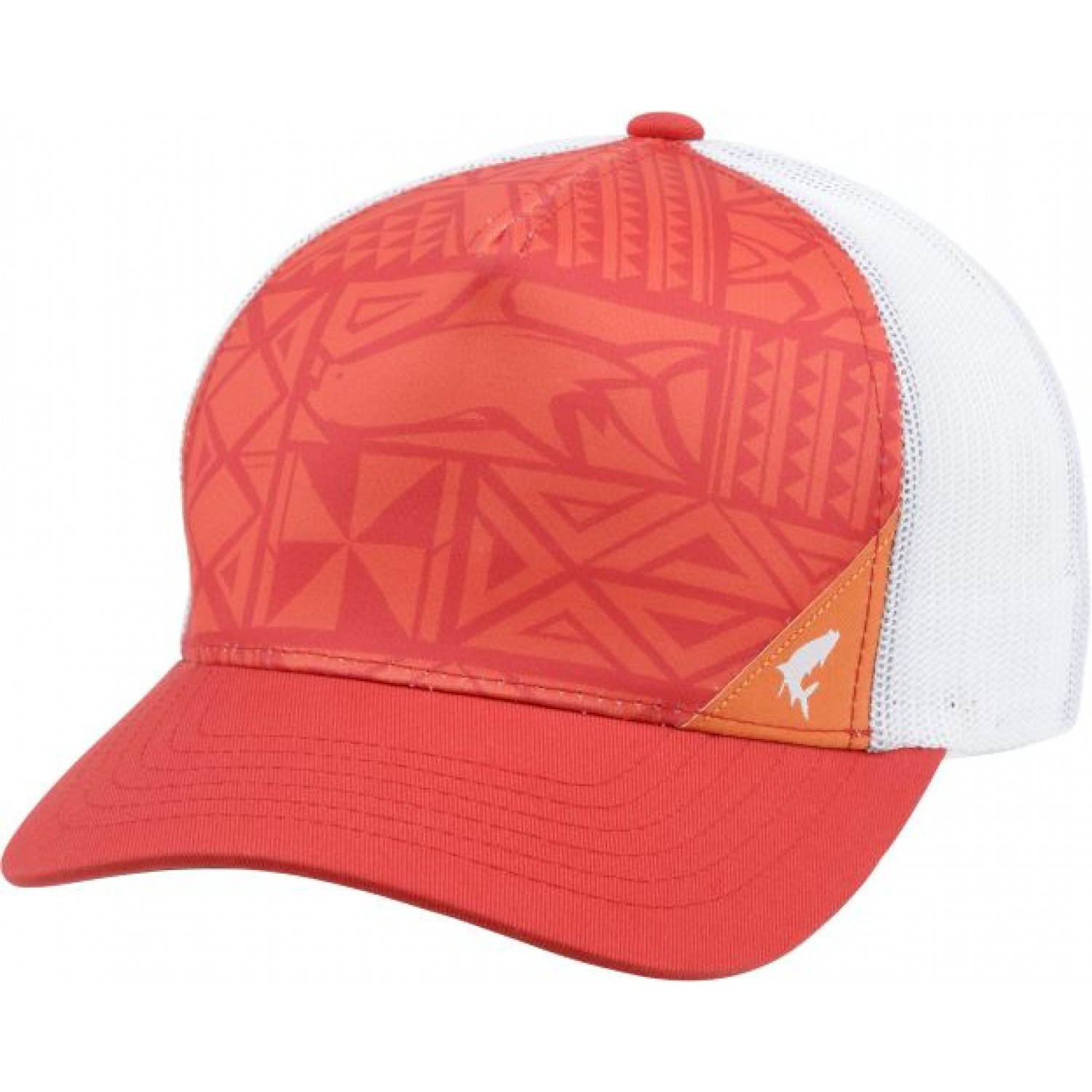 Simms Flexfit 5-panel Trucker Cap Block Print Scarlet