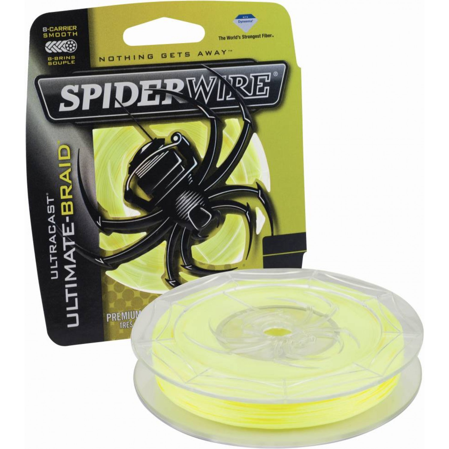 Spiderwire Ultracast 8 - Ultimate-Braid Yellow 270m