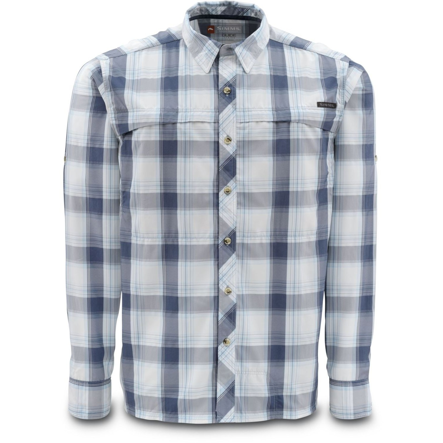 Simms Stone Cold Shirt Indigo Plaid